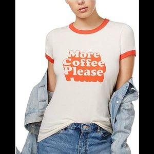 """Tops - """"More Coffee Please"""" T shirt Coffee Lover"""
